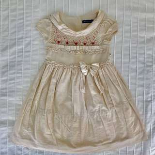 Pre-loved Periwinkle Hand-Smocked Linen Dress