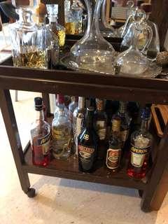 Antique drink trolley