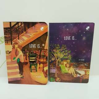 Notebook LOVE IS Volume 1 & 2 by Puuung