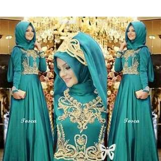 Dress muslim lengkap dg hijab