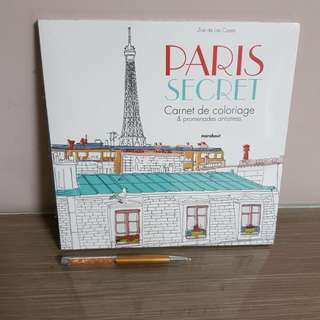 Paris secret coloring book