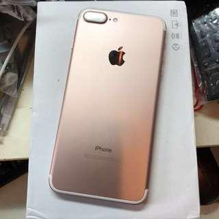 9成新 玫瑰金 iPhone 7plus 128GB in rose gold 送全新耳筒 with brand new earphones from Apple