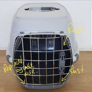 Portable pet carrier/crate.