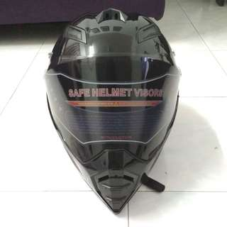 Helmet BYE black (design like agv evo ax8)