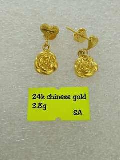 24 carat Gold earrings