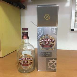 Very New Chivas Empty Bottle