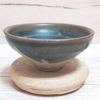 南宋建窯系鐵锈花盞 寬9.7cm 高4.5cm 喝茶神器