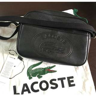 Authentic LACOSTE Leather Crossover Bag