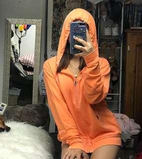 Orange Oversized Hoodie