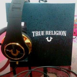 TRUE RELIGION LIM. ED. BLACK/GOLD HEADPHONES