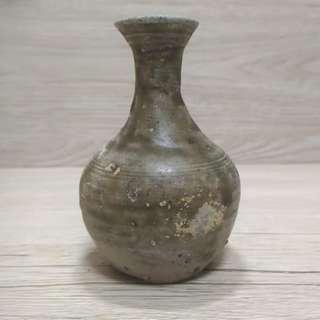 東晉窄口瓶 上寬3cm 高9cm 古樸 完整 標本 文物 收藏