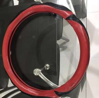 Steering wheel leather cover