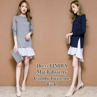 2 Warna L-Dress Lindia