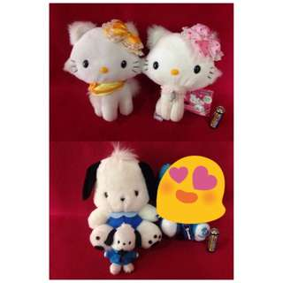Hello kitty and friends set stuff toy