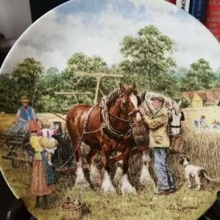 Country Scene Wedgwood plates
