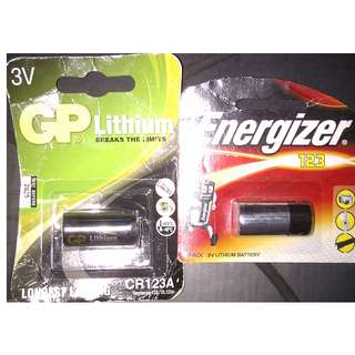 全新! GP + Energizer CR1243A 3V Lithium battery x2pcs