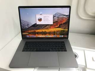 "99%New MacBook Pro 15"" 512GB 16GB 2.9Ghz i7(touchbar &id) Grey, Warranty date 14-1-2019"