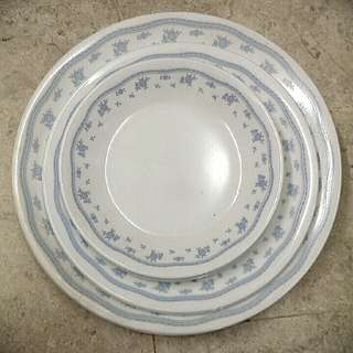 Corelle morning blue flowers plates