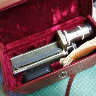 古董俄羅斯 16米厘電影機連鏡頭片盒