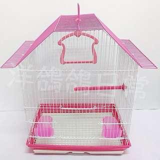 《造型鳥籠》梯形屋頂鳥籠(桃紅)、觀賞鳥籠
