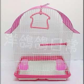 《造型鳥籠》圓屋頂鳥籠(桃紅)、觀賞鳥籠