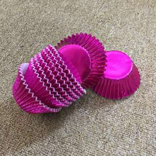(12pcs) 2oz Purple Foil Cupcake Cups