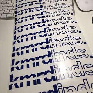 Sticker design & die-cut , name , logo , door sign , car sticker .