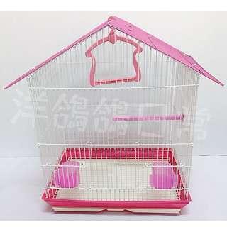 《造型鳥籠》三角屋頂鳥籠(桃紅)、觀賞鳥籠