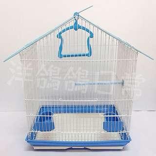 《造型鳥籠》三角屋頂鳥籠(藍)、觀賞鳥籠