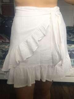 White wrap skirt