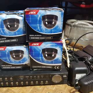 4 dome cctv with recorder