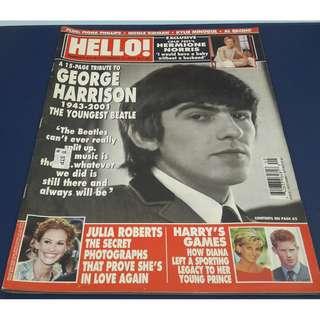 Hello! Magazine George Harrison The Beatles Cover