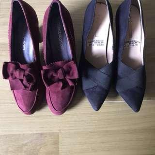 high heels 2pairs