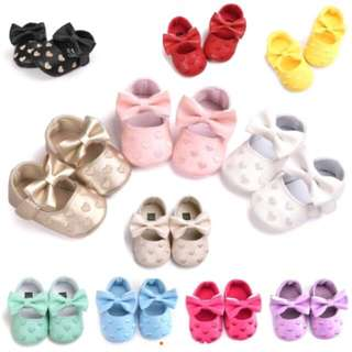 NEWBORN BABY SOFT SOLES SNEAKERS POLKA DOT CRIB Shoes 0-18month