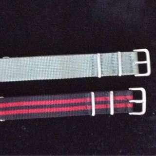 Lot of 2 Asprey NATO straps - 20mm