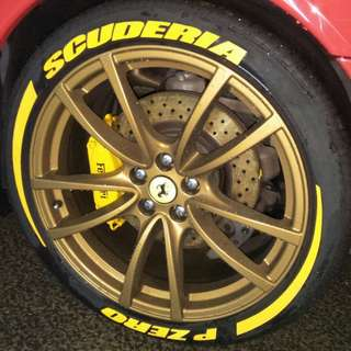 CAR TYRE LETTERING  @ COLOR
