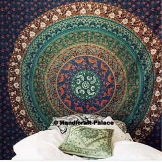 6 Tier Coloured Mandala Wall Hanging