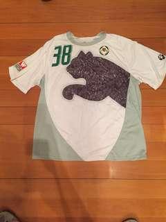 經典Puma香港足球愉園足球隊練習球衣(XL)