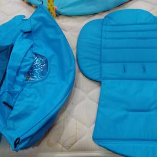 Stroller canopy and stroller pad