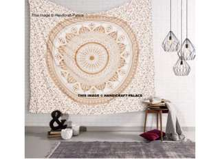 Gold Flower Mandala Wall Hanging
