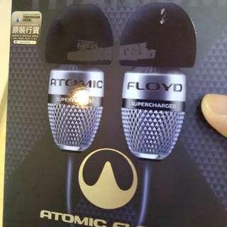 出售全新行貨 ! Atomic floyd Superdarts titanium+remote earphone 正價 3499 (特晒價 2099)  (不二價)