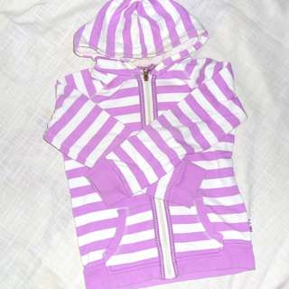 Charity Sale! Authentic Target Pink Striped Cotton Sweater Size 7 Girls