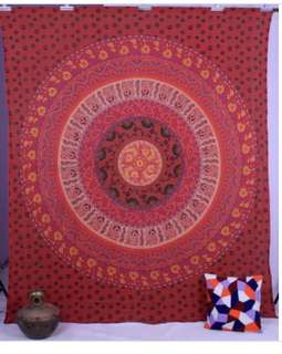 Bright Red Tiered Mandala Wall Hanging