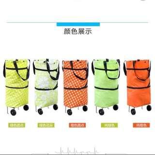Trolley shopping bag foldable