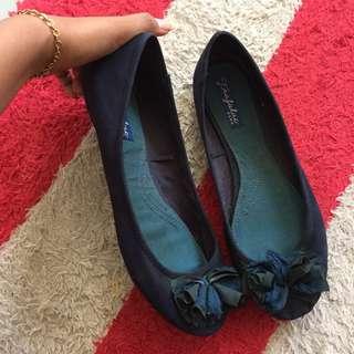 flat shoes navy zara