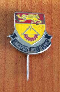 Vintage...Singapore Polytechnic Metal Badge