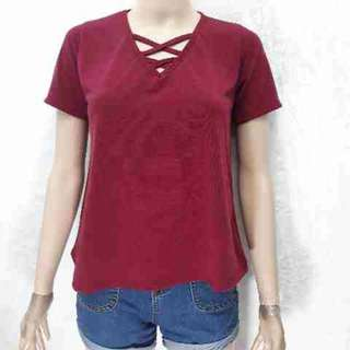 Maroon 2X Loose top