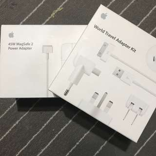 Apple 45W MagSafe 2 Power Adapter & World Travel Adapter Kit