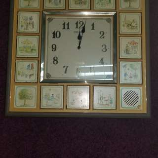 VINTAGE RARE SEIKO WALL CLOCK MUSICAL FANTASIA ANTIQUE COLLECTIBLE
