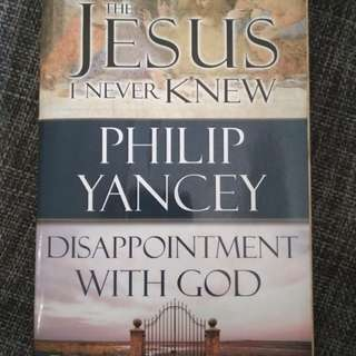 The Jesus I never knew / disappointment with God 2in1 book. By Philip Yancey